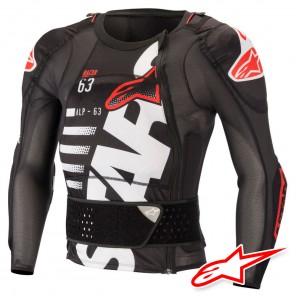 Protezione Alpinestars SEQUENCE Protection Jacket Manica Lunga - Nero Bianco Rosso