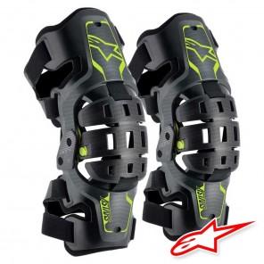 Set Alpinestars BIONIC 5S YOUTH Knee Brace - Nero Antracite Giallo Fluo