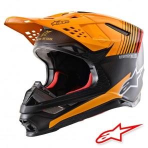 Casco Motocross Alpinestars SUPERTECH S-M10 Dyno - Nero Carbonio Arancione