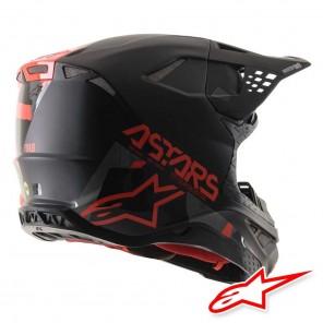Casco Alpinestars SUPERTECH S-M8 Echo - Nero Grigio Rosso Fluo