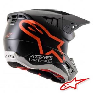 Casco Alpinestars S-M5 Compass - Nero Arancione Fluo Opaco