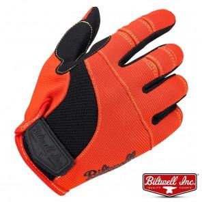 Guanti Moto Biltwell MOTO - Arancione Nero Giallo