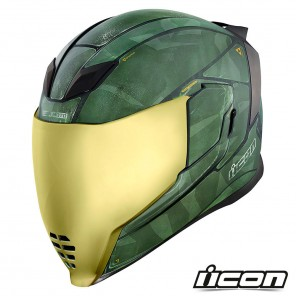 Casco Integrale Icon AIRFLITE Battlescar 2 - Verde