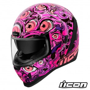 Casco Integrale Icon AIRFORM Illuminatus - Rosa