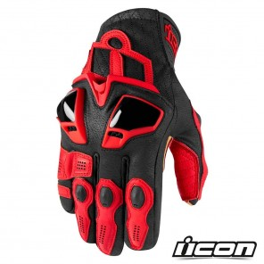 Guanti Moto Icon HYPERSPORT SHORT - Rosso