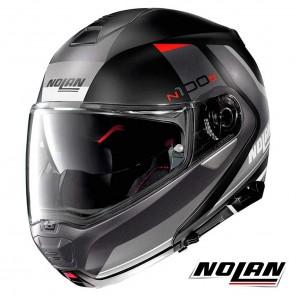 Casco Moto Nolan N100-5 N-COM Hilltop 47 - Nero Antracite Opaco
