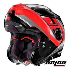Nolan Casco N100-5 N-COM Hilltop 50 - Nero Rosso