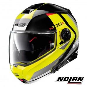 Casco Moto Nolan N100-5 N-COM Hilltop 51 - Nero Giallo