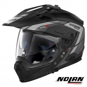 Casco Modulare Nolan N70-2 X Grandes Alpes 21 N-COM - Flat Black