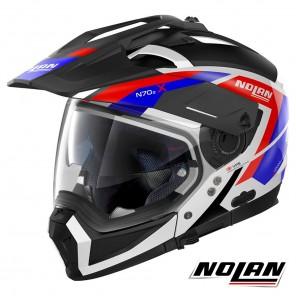 Casco Modulare Nolan N70-2 X Grandes Alpes 26 N-COM - Metal White