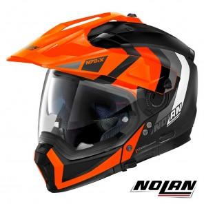 Casco Modulare Nolan N70-2 X N-COM Decurio 31 - Nero Opaco Arancione