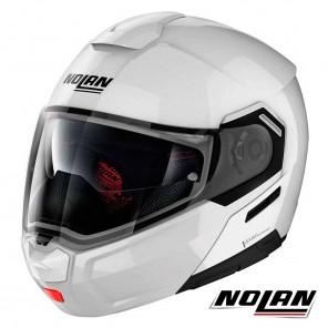 Casco Apribile Nolan N90-3 N-COM Classic 5 - Bianco Metal
