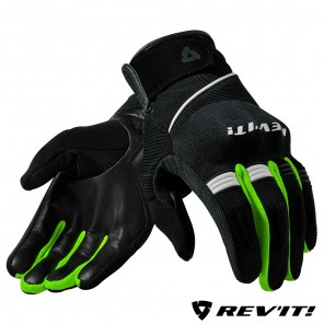 Guanti REV'IT! MOSCA - Nero Giallo Neon