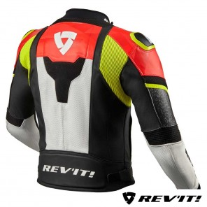Giacca REV'IT! HYPERSPEED AIR - Nero Rosso Neon