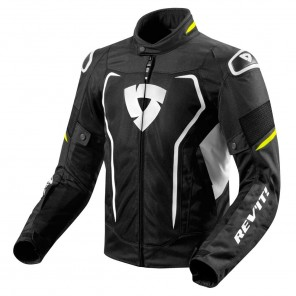 Giacca Moto REV'IT! VERTEX AIR - Nero Giallo Neon