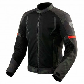 Giacca Moto REV'IT! TORQUE - Nero Verde Militare