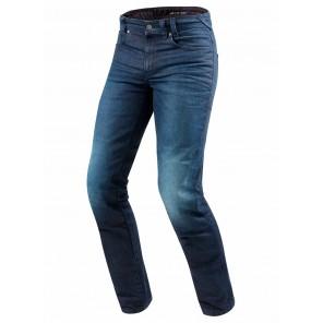 Jeans Moto REV'IT! VENDOME 2 (Taglia Lunga) - Blu Scuro Slavato