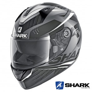 Casco Integrale Shark RIDILL Stratom - Antracite Nero Bianco
