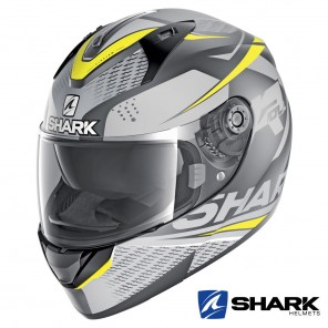 Casco Integrale Shark RIDILL Stratom Mat - Antracite Giallo