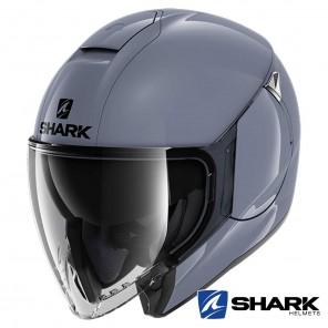 Casco Jet Shark CITYCRUISER Blank - Grigio Nardo