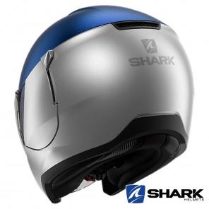 Casco Shark CITYCRUISER Dual Blank Mat - Argento Blu