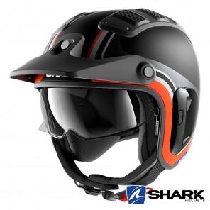 Casco Moto Jet Shark X-DRAK 2 Hister Mat - Nero Antracite Arancione