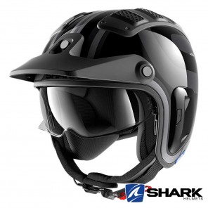 Casco Moto Jet Shark X-DRAK 2 Thrust-R - Antracite Nero