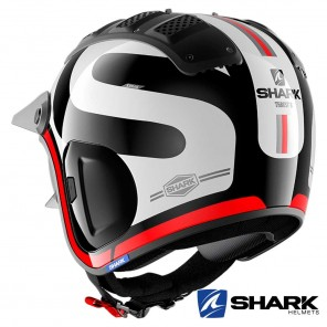 Casco Shark X-DRAK 2 Thrust-R - Nero Bianco Rosso