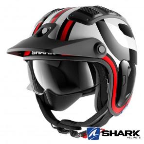 Casco Moto Jet Shark X-DRAK 2 Thrust-R - Nero Bianco Rosso