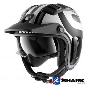 Casco Moto Jet Shark X-DRAK 2 Thrust-R Mat - Nero Bianco Antracite