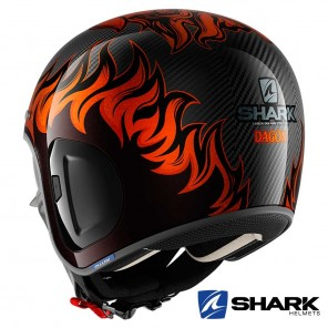 Casco Shark S-DRAK CARBON 2 Dagon - Nero Arancione