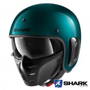 Casco Moto Jet Shark S-DRAK 2 Blank - Verde Metallico