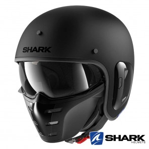Casco Moto Jet Shark S-DRAK 2 Blank Mat - Nero