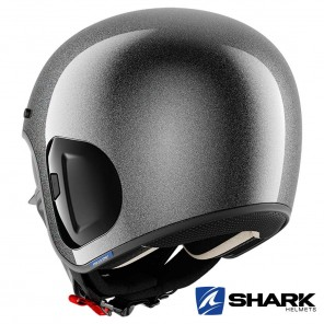 Casco Shark S-DRAK 2 Blank Glitter - Argento