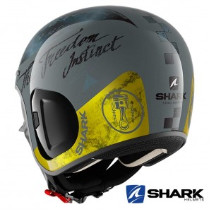 Casco Shark S-DRAK 2 Tripp In - Antracite Giallo