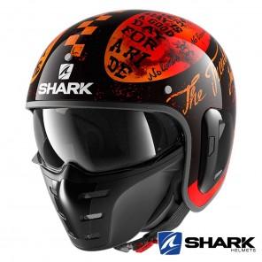 Casco Moto Jet Shark S-DRAK 2 Tripp In - Nero Arancione