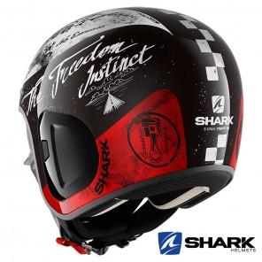 Casco Shark S-DRAK 2 Tripp In - Nero Bianco Rosso