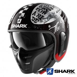Casco Moto Jet Shark S-DRAK 2 Tripp In - Nero Bianco Rosso