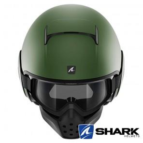Casco Jet Shark DRAK Blank Mat - Verde