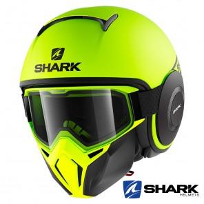 Casco Jet Shark STREET-DRAK Street-Neon Mat - Giallo Nero