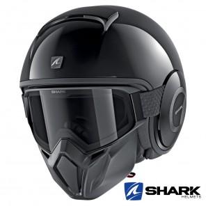 Casco Jet Shark STREET-DRAK Blank - Nero
