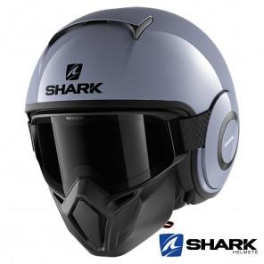 Casco Jet Shark STREET-DRAK Blank - Grigio Nardo