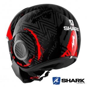 Casco Shark STREET-DRAK Crower - Nero Antracite Rosso