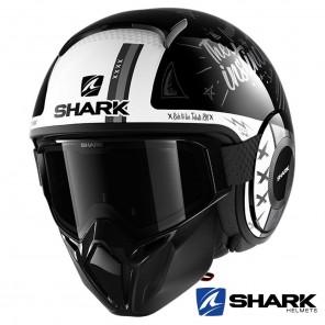 Casco Moto Jet Shark STREET-DRAK Tribute RM - Nero Antracite Bianco