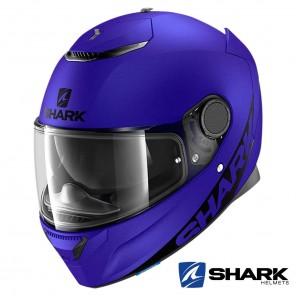 Casco Integrale Shark SPARTAN Blank Mat - Blu Yamaha