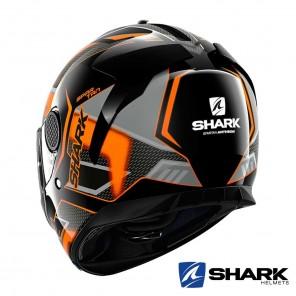 Casco Shark SPARTAN Antheon - Nero Arancione Nero