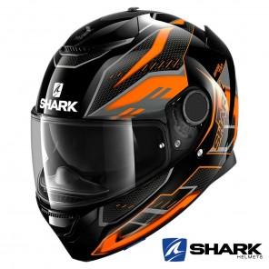 Casco Moto Integrale Shark SPARTAN Antheon - Nero Arancione Nero