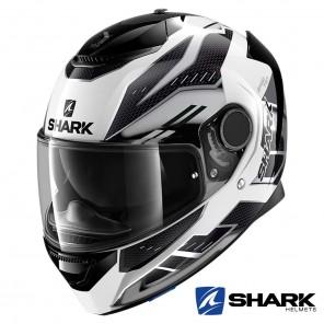 Casco Moto Integrale Shark SPARTAN Antheon - Bianco Argento Nero