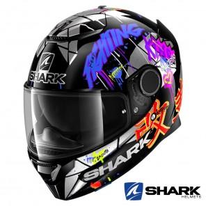 Casco Moto Integrale Shark SPARTAN Lorenzo Catalunya GP - Nero Rosso Glitter