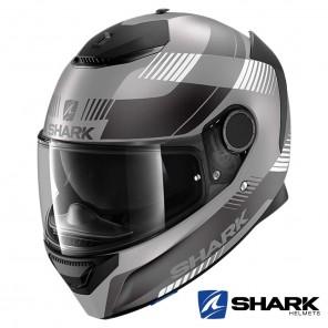 Casco Moto Integrale Shark SPARTAN Strad Mat - Antracite Nero Argento